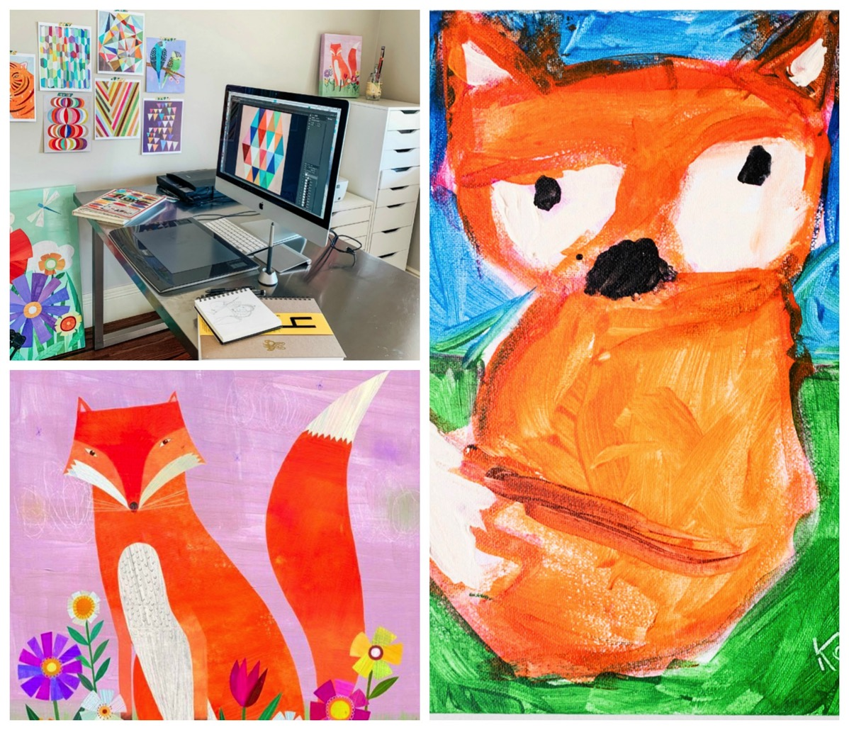 Studio of melanie mikecz colorful kids art for home