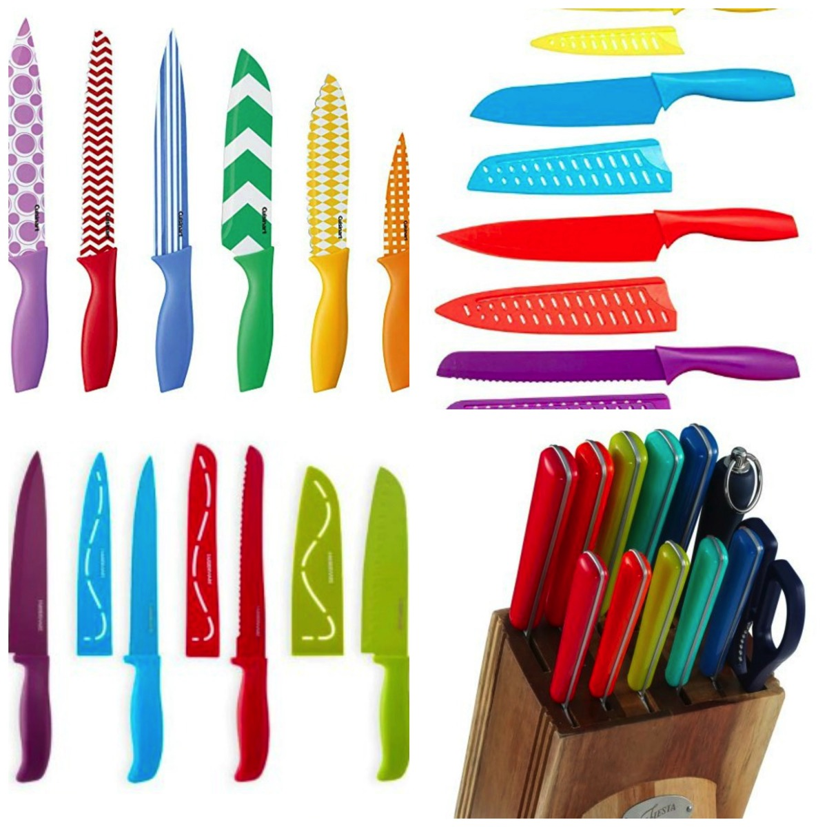 Vibrant and colorful rainbow kitchen knife sets for your home