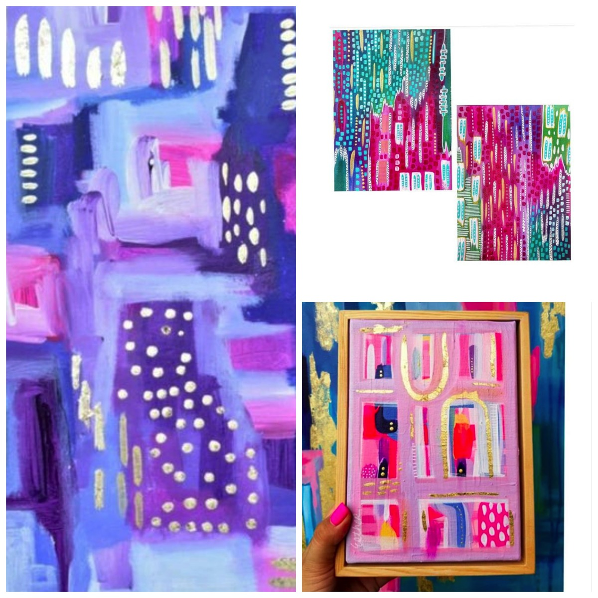 Esther Mccord colorful abstract paintings