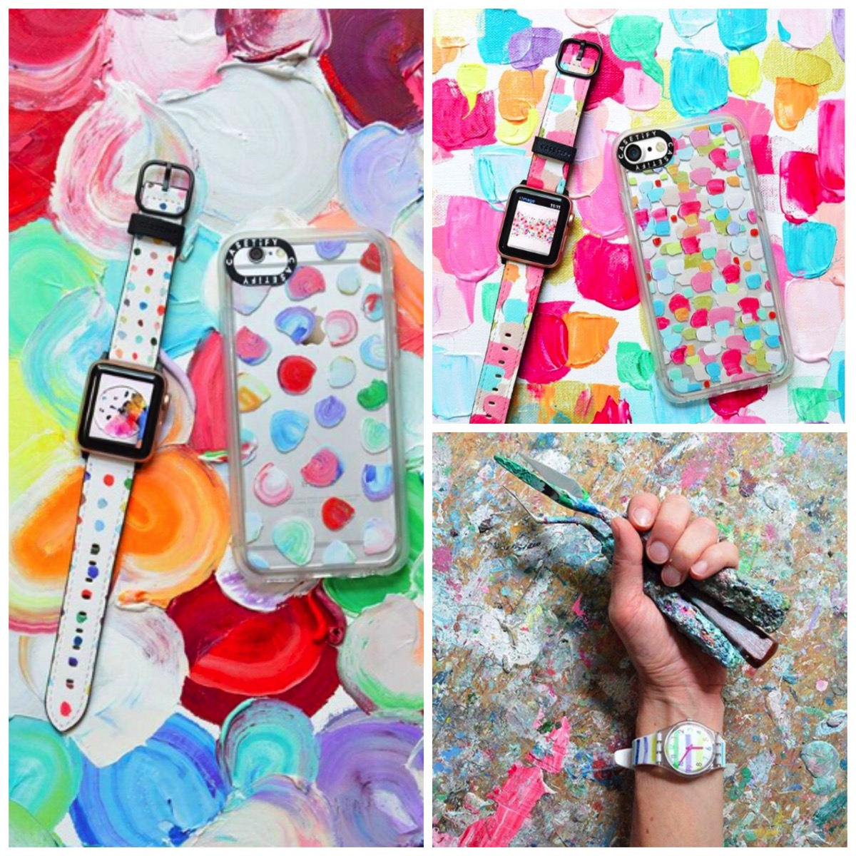 Ann marie coolick  colorful casetify colorful phone cases and i watch wrist bands