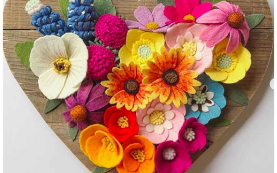 An Everlasting Colorful Floral Bouquet with a Hint of Whimsy, These are Flowers You Can Enjoy Forever On Your Colorful Gallery Wall, By Clemmy Lou Designs, No Water Needed.