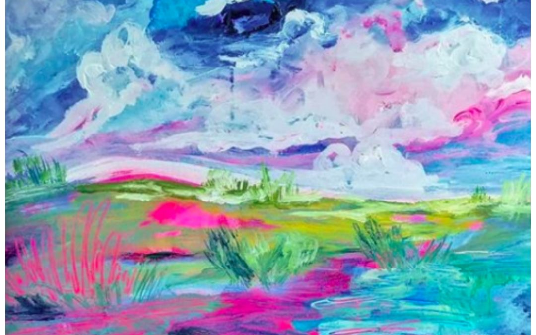 The Cotton Candy Colored Dreamy Abstract Landscape Paintings of Esther McCord
