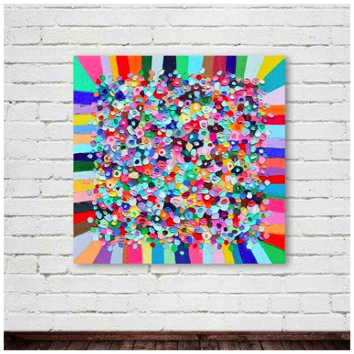 Colorful abstract painting ann marie coolick