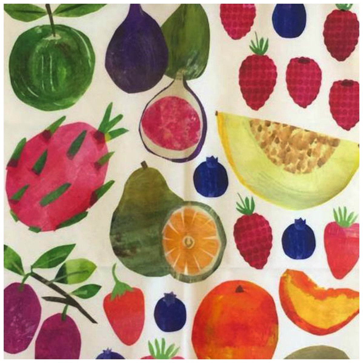 Colorful fruit art from tracey english