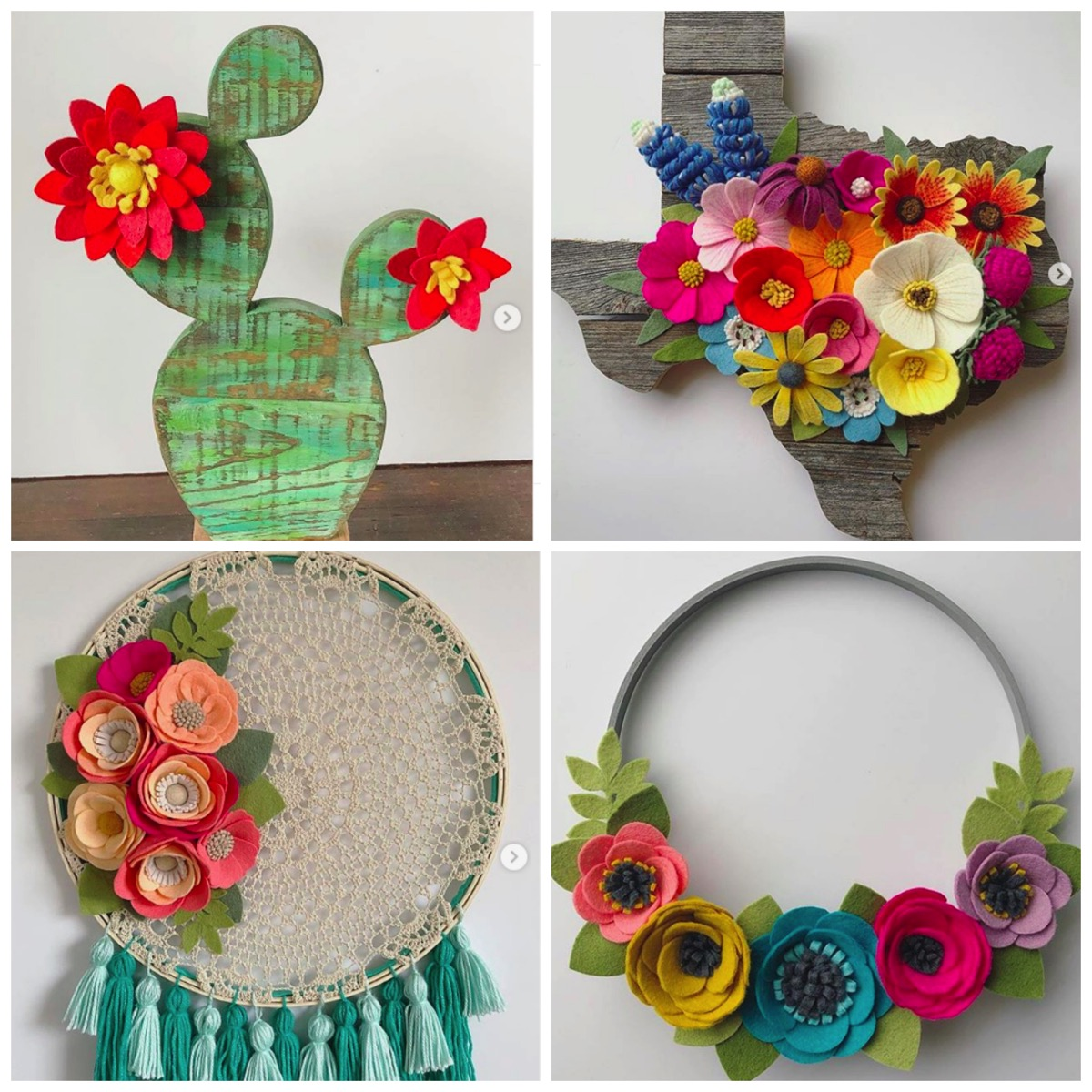 Colorful home decor flower wreath by clemmy lou designs