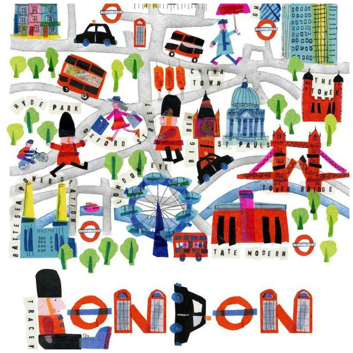 Colorful london artwork from tracey english