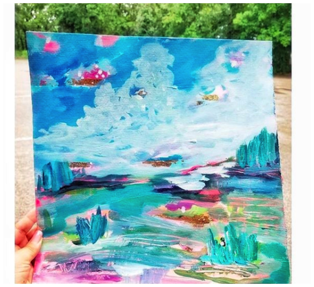 Colorful sky and landscape painting esther mccord