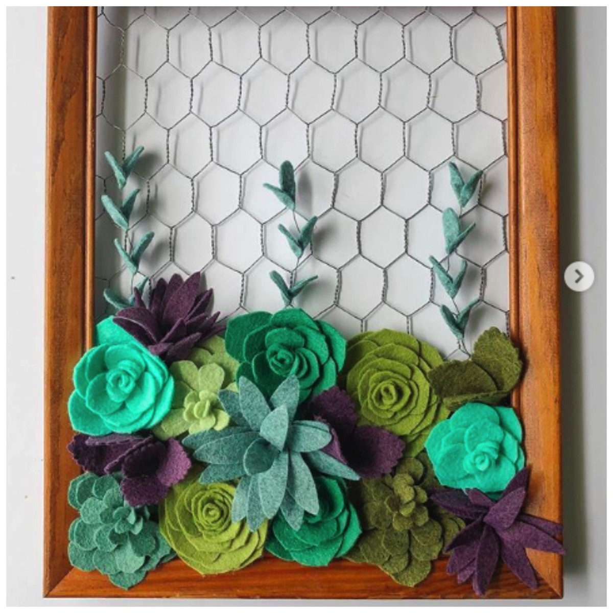 Colorful succulent artwork for home