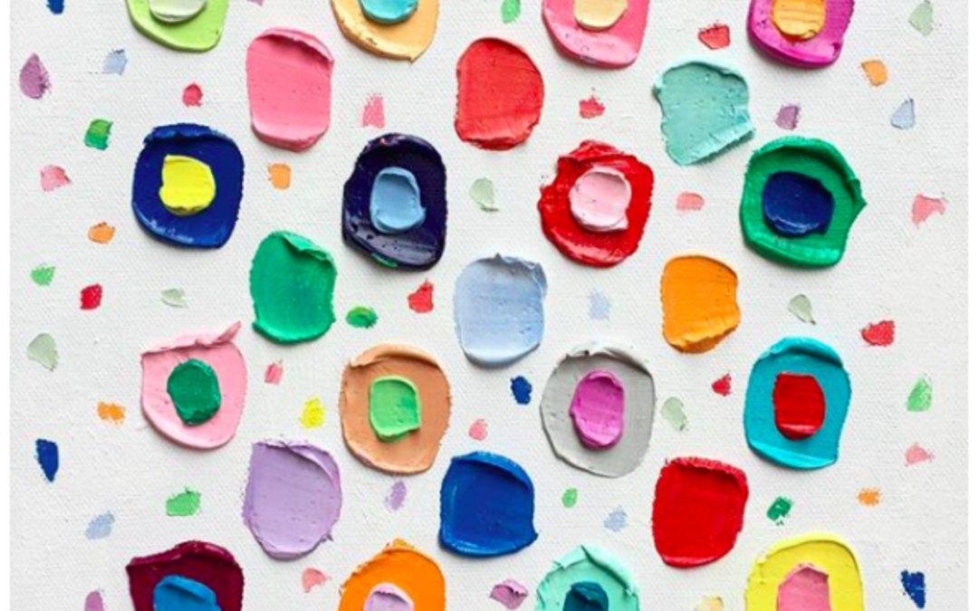 Colorful Abstract Paintings That Are As Delicious and Beautiful as a Freshly Frosted Cupcake, The Colorful Abstract Art Of Ann Marie Coolick