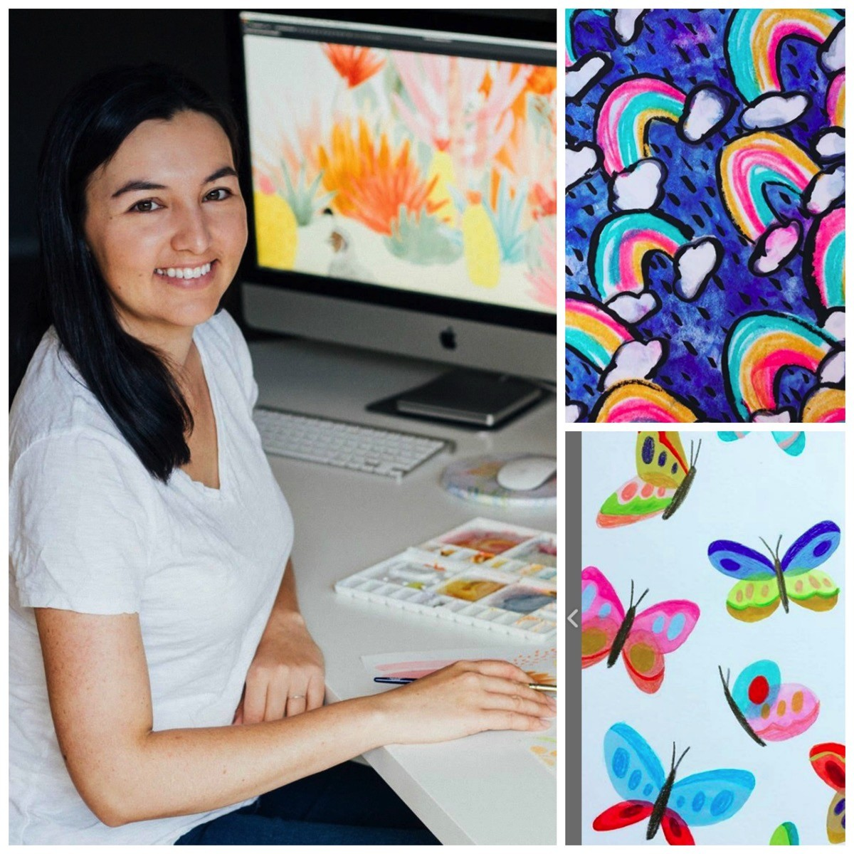 Natalie lundeen colorful illistration
