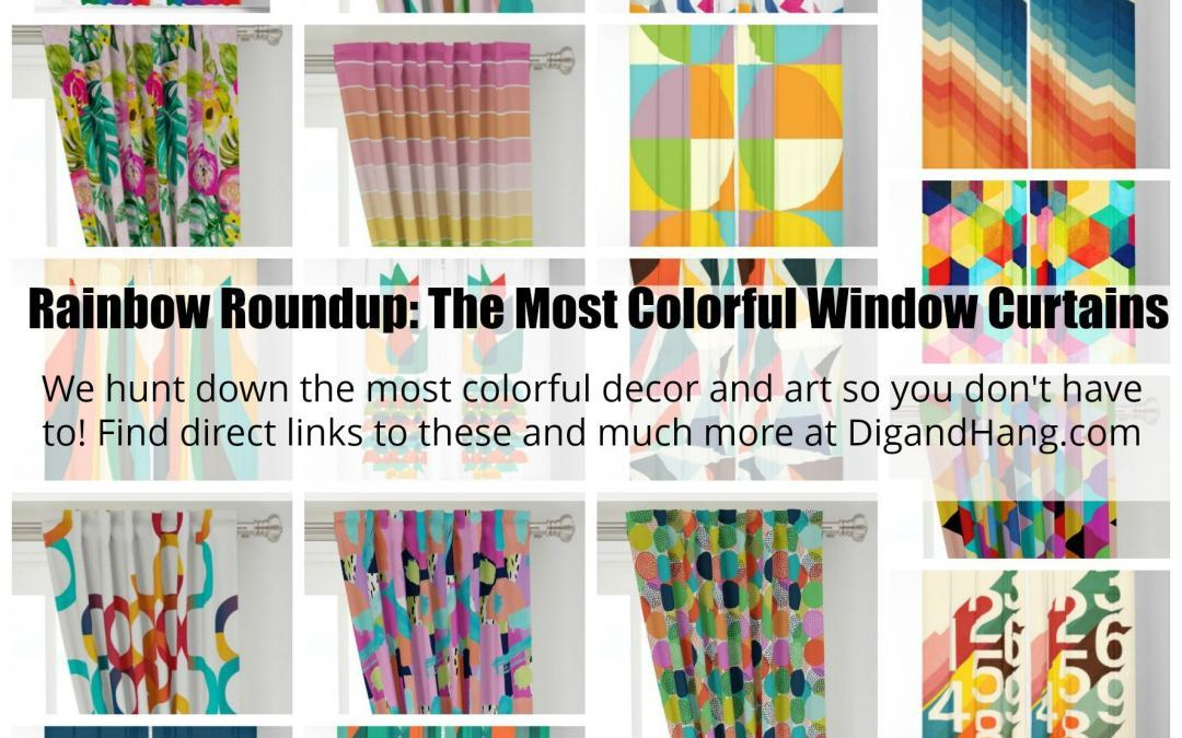 Rainbow Roundup: A List of The Most Colorful, Bold, Bright and Unique Window Curtains For Your Home