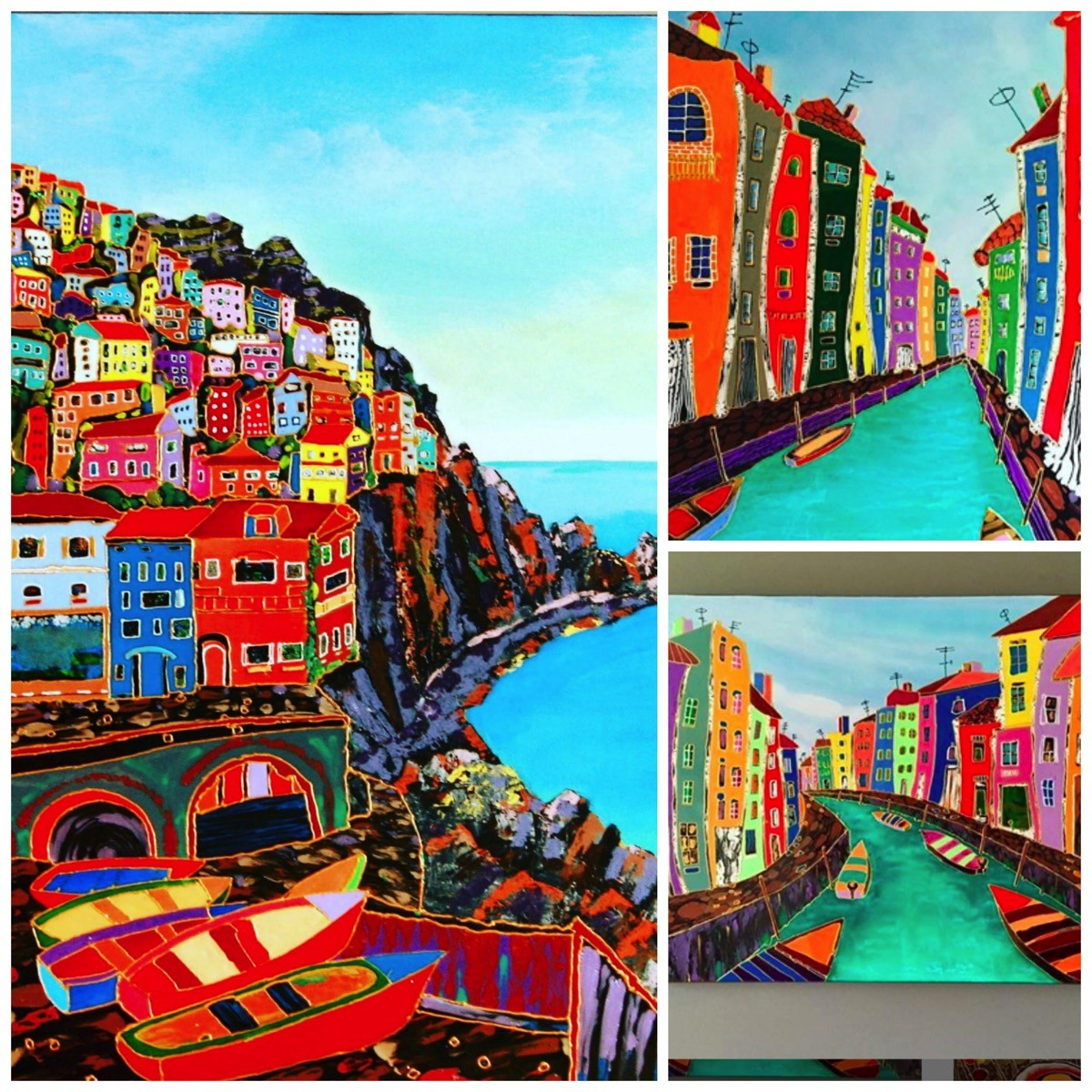 Colorful paintings of iltay