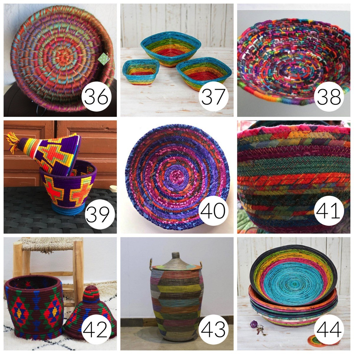 List of most colorful baskets online
