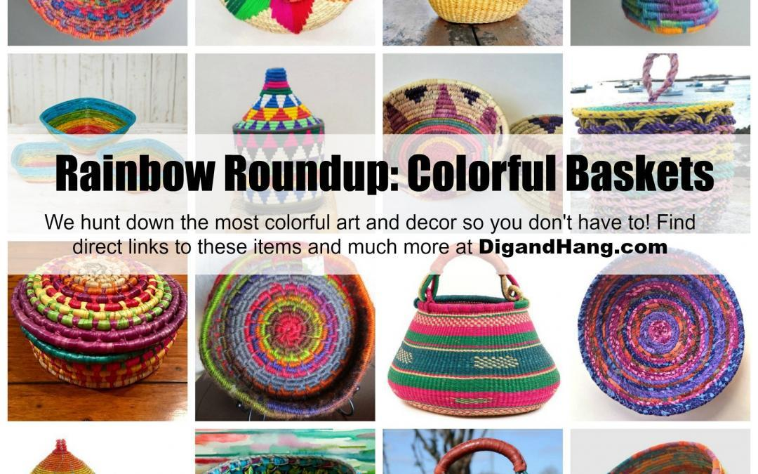 The Most Colorful, Unique and Bold Woven Baskets For Your Home