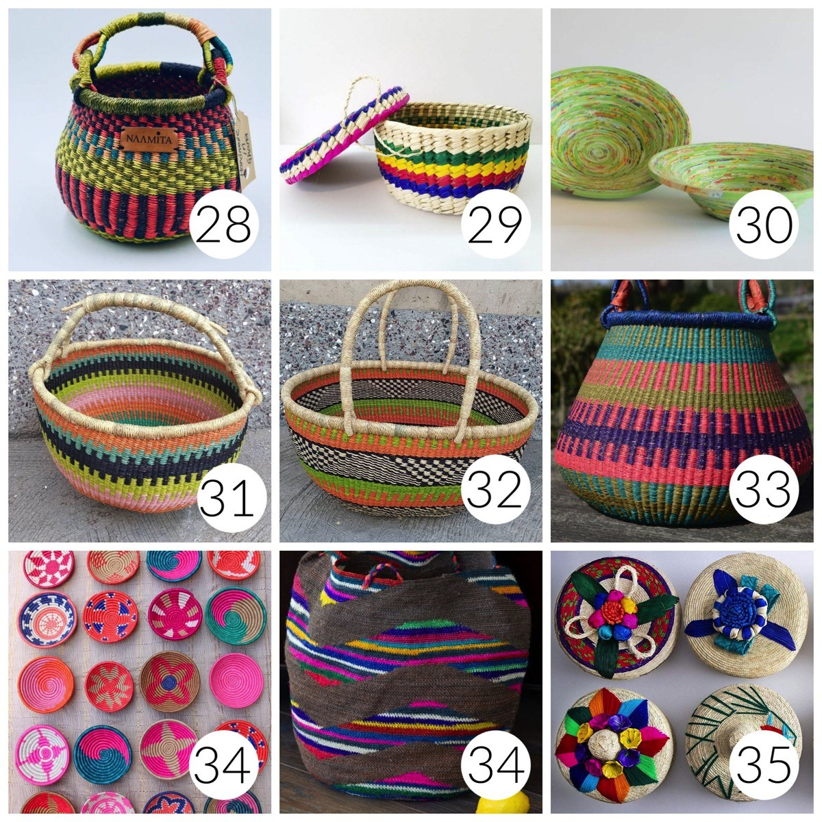 The most colorful baskets online