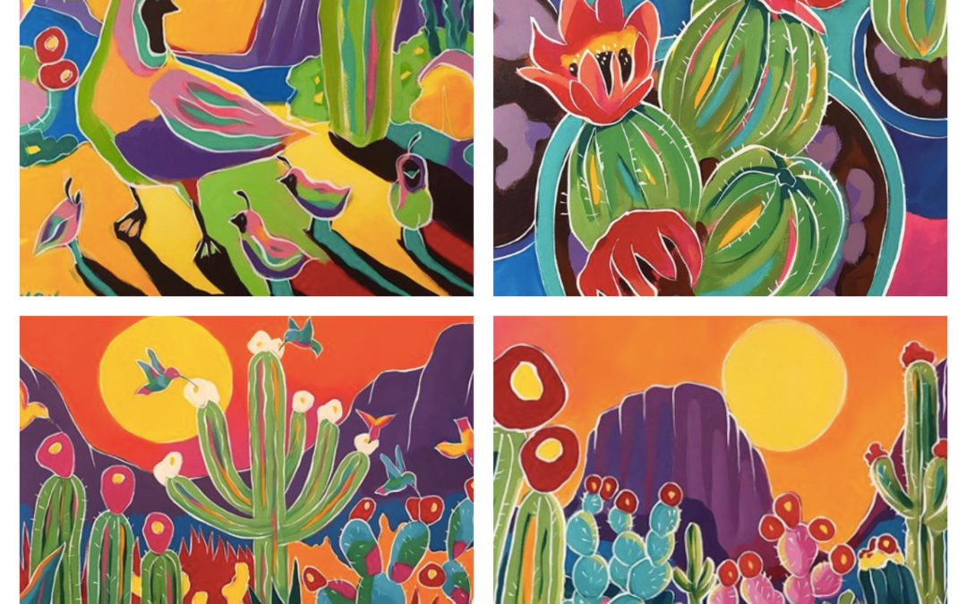The Majestic and Vibrant, Colorful Southwest Art of Kristin Harvey, Featured Artist of The Week