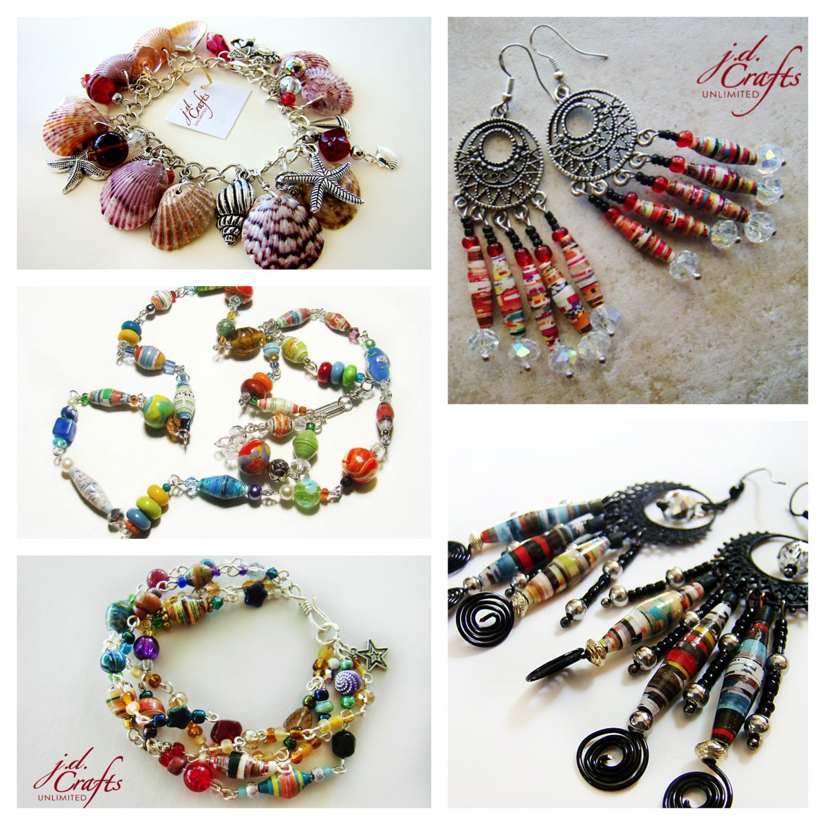 Jd Crafts unlimited colorful jewelry