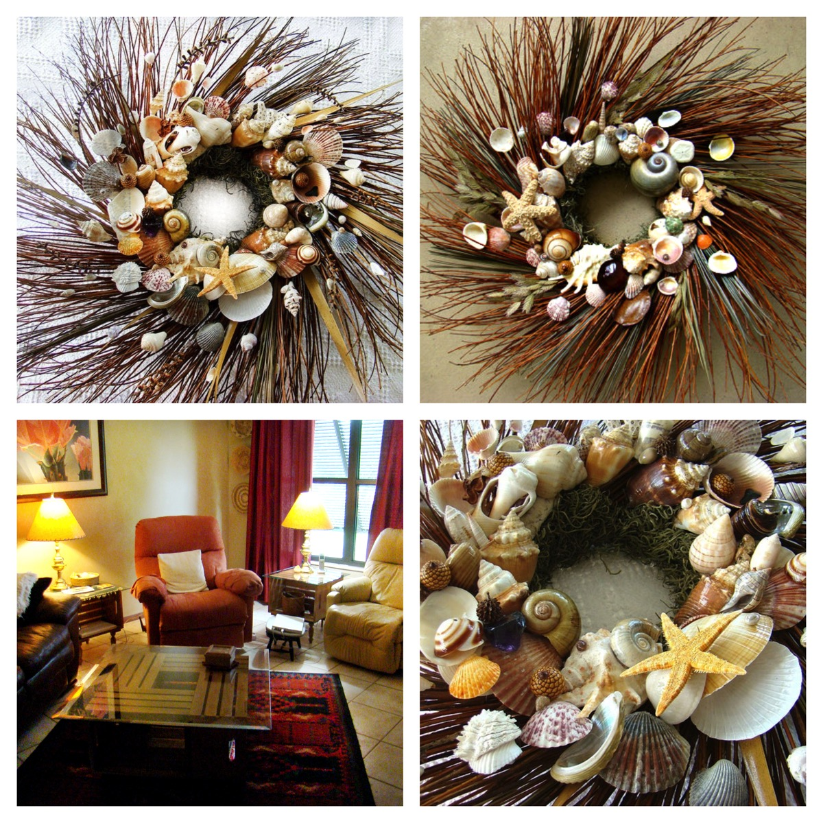 Jd Crafts unlimited seashell wreath