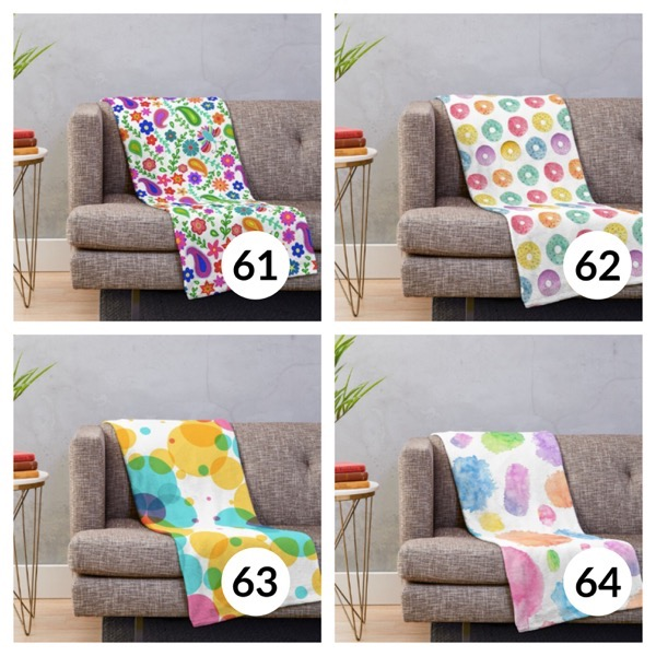 Colorful throw blanket list 1  15