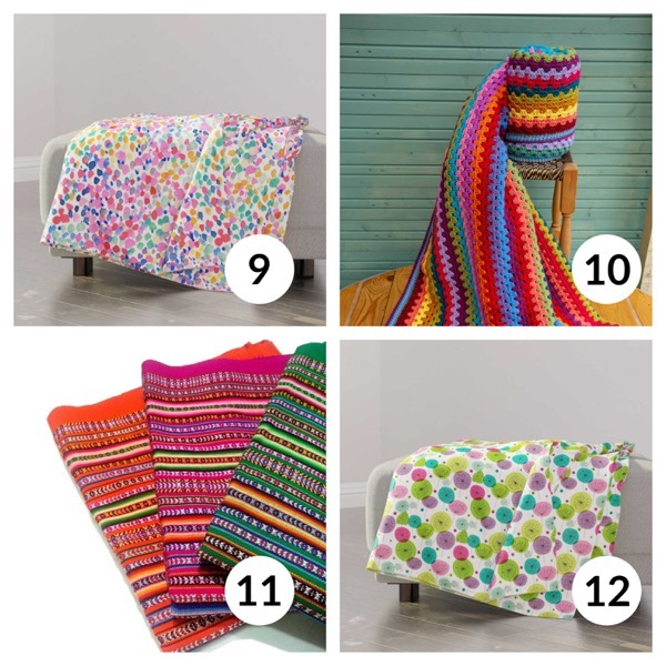 Colorful throw blanket list 1  2