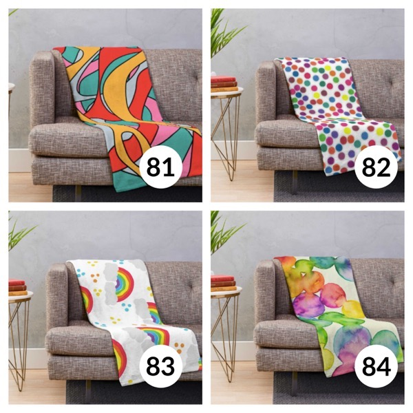 Colorful throw blanket list 1  20
