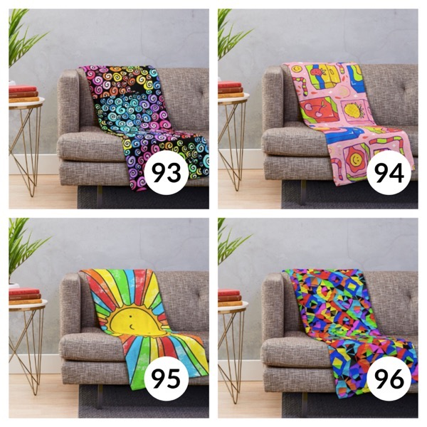 Colorful throw blanket list 1  23