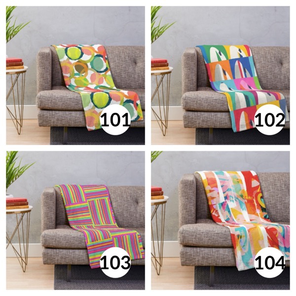 Colorful throw blanket list 1  25
