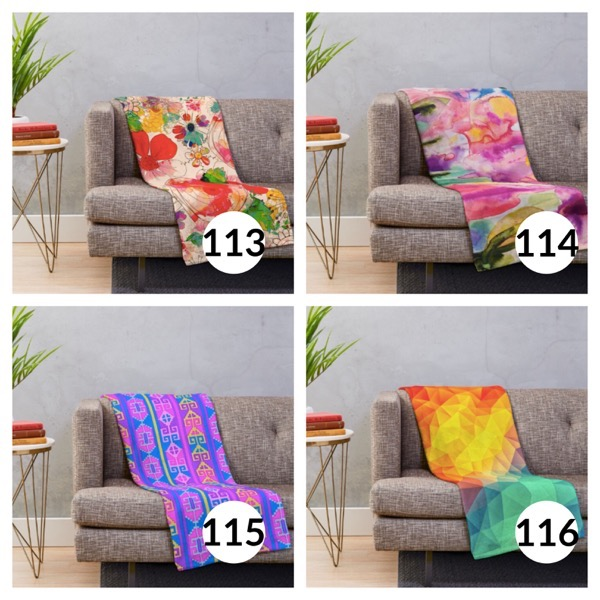 Colorful throw blanket list 1  28