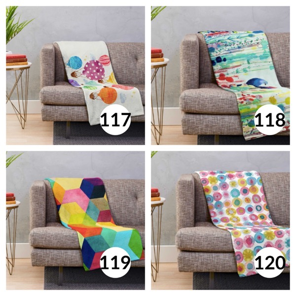 Colorful throw blanket list 1  29