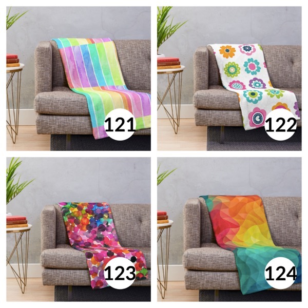 Colorful throw blanket list 1  30