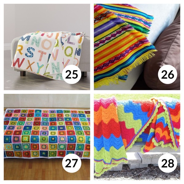 Colorful throw blanket list 1  6