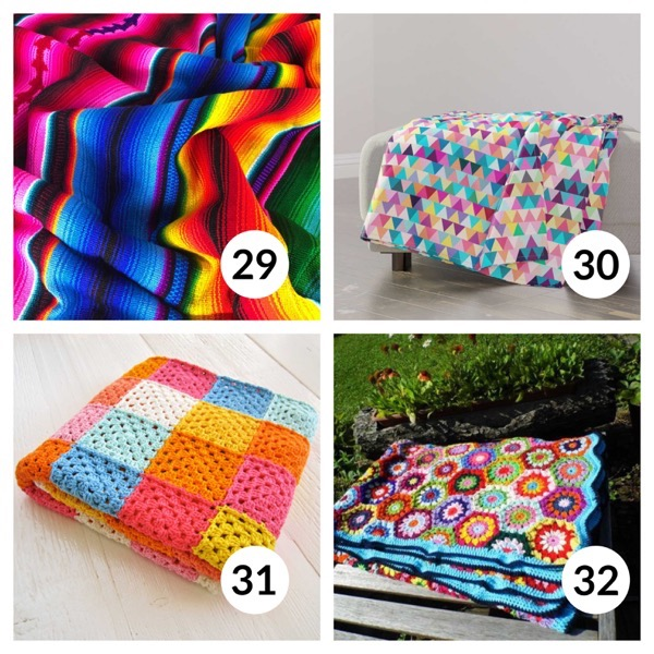 Colorful throw blanket list 1  7