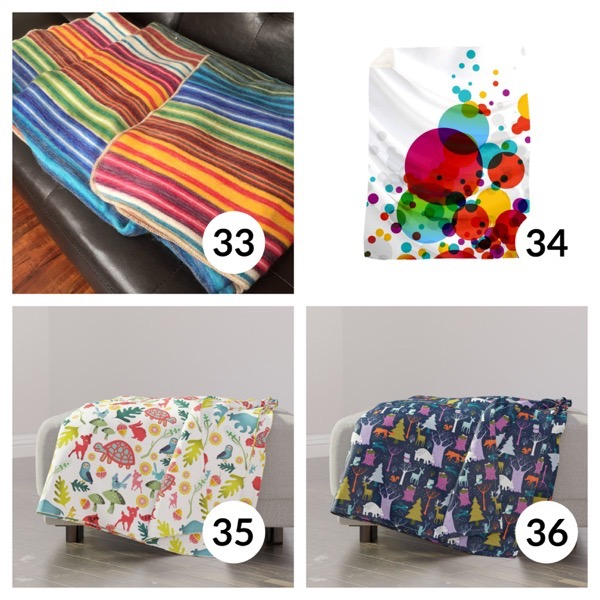 Colorful throw blanket list 1  8