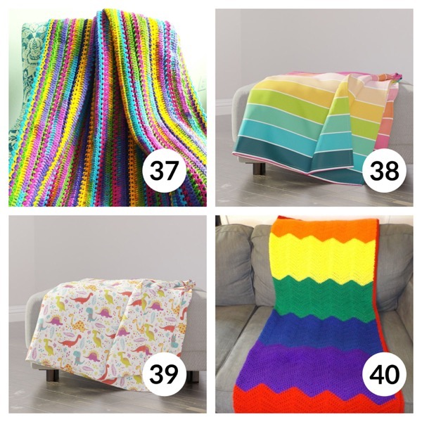 Colorful throw blanket list 1  9